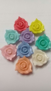 Acrylic Bead Rose Mixed Colours R40 +/ 50 pieces