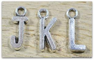 Choose Your Letters A - Z Silver Metal 12mm (10pcs per letter)