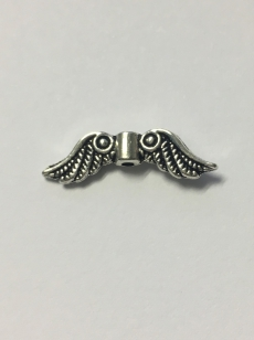 Metal Charm Angel Wing 23mm R40 30 pieces