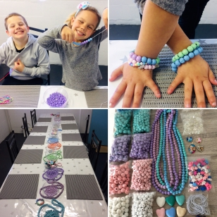 Bead Party-Children come in to a dedicated party area where they will make Necklaces and Bracelets R100 per person, Minimum 12 children,. Please contact Linzi on 079 0932 770. We can also come to your house at an extra charge