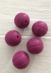 Baby Silicone Teething Bead Round Burgundy 15mm R40 (10 pieces) R4 each