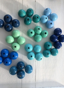 This is a Display of the Blue Wood Beads, please ask for size/colours