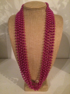 Mardi Grass Pink Necklace, *Buy Any 10, Pay Half Price