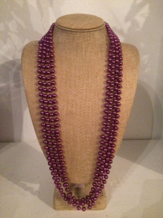 Mardi Grass Purple Necklace, *Buy Any 10, Pay Half Price