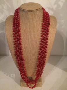 Mardi Grass Red Necklace, *Buy Any 10, Pay Half Price