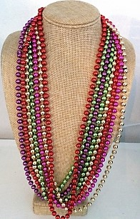 Mardi Gras/Dress up Necklaces, a display of all the colours available (order each colour separately) *Buy Any 10, Pay Half Price