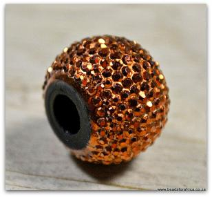 Copper Round Pandora Acrylic 13x16mm R12 each or R60 (10 pieces)