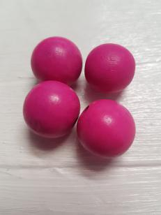 Wood Cerise Pink Round 25mm 20 pieces *100 piece packs available