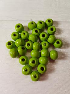 Wood Lime Green Round 6mm +/ 465 pieces *Kilogram packs available