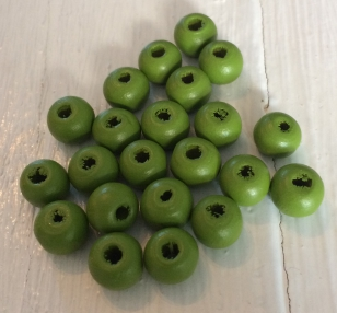 Wood Lime Green Round 8mm +/ 500 pieces, 500 Gram packs available