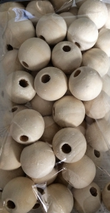 Wood Natural 16mm 100 grams*Please enquire about our 500 gram bags