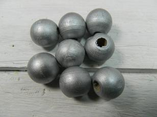 Round Silver 16mm 100g +/- 65pcs, Kilogram Packs available R200