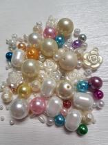 An Exciting Assortment of Acrylic Pearl Beads in different shapes and sizes, always a winner
