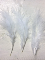Feathers White R35 20 Pieces, these are Lovely and Soft, Perfect for Crafts, Sizes +/ 15cm