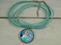 Frozen Pendant 1 on Ribbon Silk Cord R30 (Available in different colours)