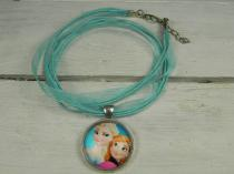 Frozen Pendant 2 on Ribbon Silk Cord R30 (Available in different colours)