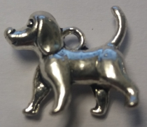 Metal Charm Dog 1-Puppy R35 (15 pieces)