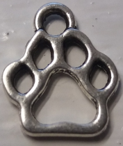 Metal Charm Dog 5-Paw R35 (20 pieces)