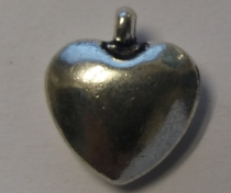 Metal Charm Heart 2 R40 (15 pieces)