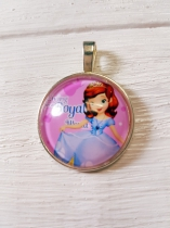 Metal Pendant with Glass Dome Princess Sophia *R20 each or R150 (10 pieces)