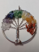 Mixed Gemstone Tree of Life Pendant-Buy Any 10, Less 50% (Can Mix)
