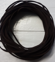 Suede Chocolate Brown 3mm R60 (10 meters)