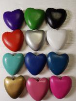 Wood Heart with top 40mm *Choose your own colours R40 (5 pieces)
