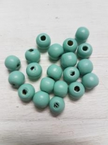 Wood Mint Blue/Green Round 10mm +/ 190 pieces *KIlogram Packs available