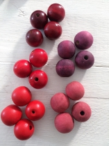 This a Display of All our Red Wood Beads Available-Please order each Colour individually, available in All sizes