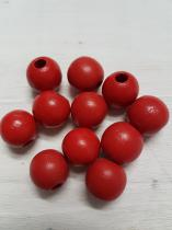 Wood Red Round 16mm +/ 65 pieces *Kilogram packs available
